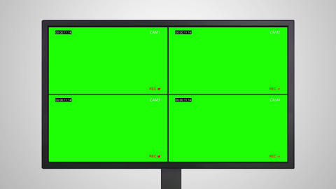 Desktop Monitor display of video recording Animation