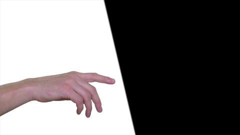 People pointing with fingers on white or black background. Business presentation Footage