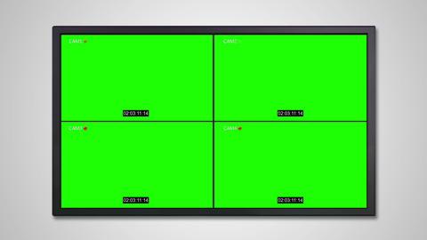 TV display of cctv technology Animation