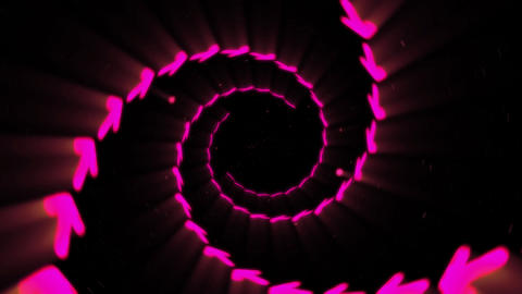 Illuminated tunnel of Arrows, Spin lines, Loop Animation