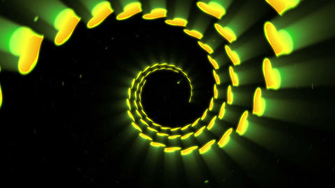 Illuminated Tunnel of Hearts, Spin lines, Loop Animation