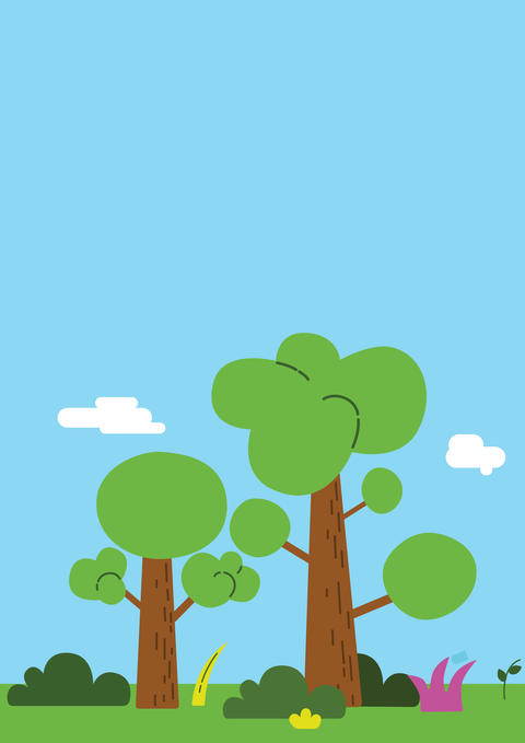 illustration of a tree in a park in flat style Fotografía