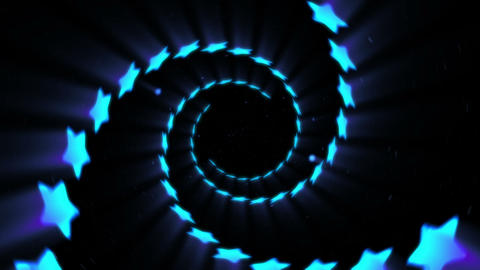 Illuminated tunnel of Stars, Spin lines, Loop CG動画