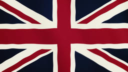 Great Britain flag waving animation. Full Screen. Symbol of the country Footage
