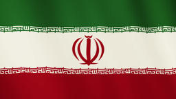 Iran flag waving animation. Full Screen. Symbol of the country Footage