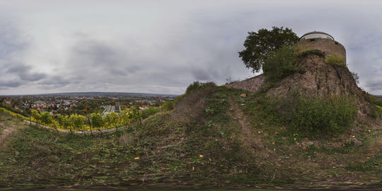 360VR Panoramic Landscape Timelapse Over Radebeul Germany 8K Virtual Reality VR 360° Video