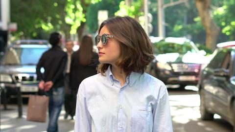 Beautiful Girl in Sunglasses 영상물
