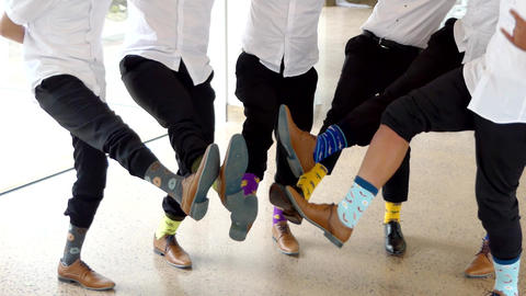 shot of wedding suits, tie, socks, shoes & watches for the groom & groom men Live Action