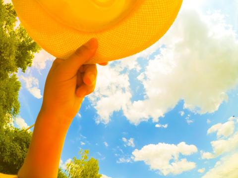 Hand hat sky cloud summer Photo