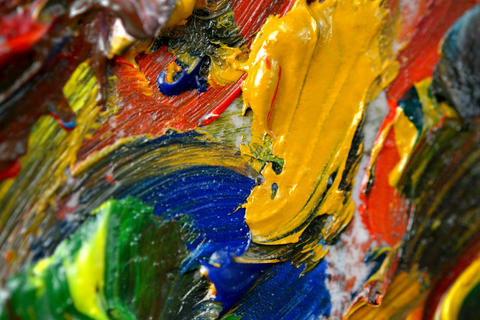 Abstract background with oil paint smears Photo