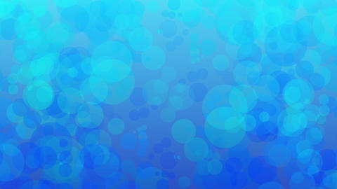 blue bubble slowly moving background CG動画素材