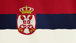 Serbia flag waving animation. Full Screen. Symbol of the country 영상물