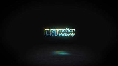 Colorful electro logo After Effects Template