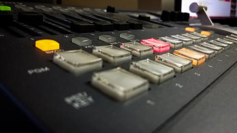 Professional video mixing console with buttons Fotografía