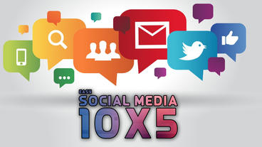 Easy Social Media 10x5 Apple Motionテンプレート
