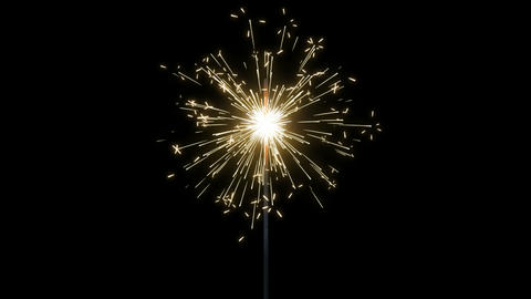Fireworks Sparkler Loops, Stock Animation
