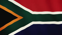 South Africa flag waving animation. Full Screen. Symbol of the country 영상물