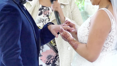 exchange of wedding or engagement ring Live Action