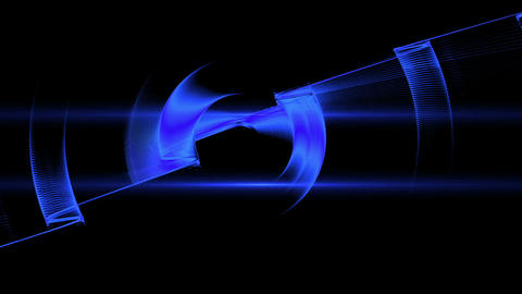 Blue Dynamic Rotational Motion with Flare Animation