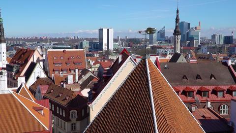 Panorama of Tallinn old town, Estonia Footage