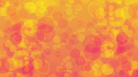 orange bubble background Animation