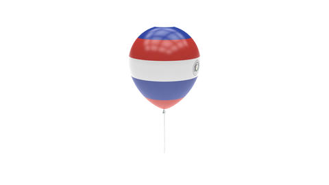 Paraguay Balloon Rotating Flag Animation - Alpha Channel - Transparent Animation