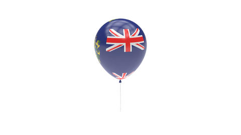 Pitcairn-Islands Balloon Rotating Flag Animation - Alpha Channel - Transparent Animation
