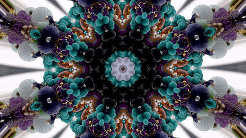 Kaleidoscope background made from jewelry footage Live Action