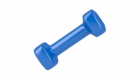 Blue dumbbell Animation
