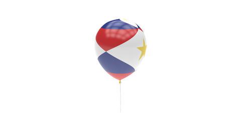 Saba Balloon Rotating Flag Animation - Alpha Channel - Transparent Animation