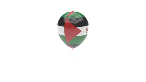 Sahrawi-Arab-Democratic-Republic Balloon Rotating Flag Animation - Alpha Channel Animation