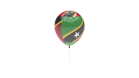 Saint-Kitts-and-Nevis Balloon Rotating Flag Animation - Alpha Channel - Transpar Animation