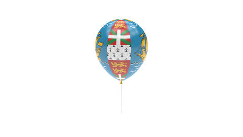 Saint-Pierre-and-Miquelon Balloon Rotating Flag Animation - Alpha Channel - Tran Animation