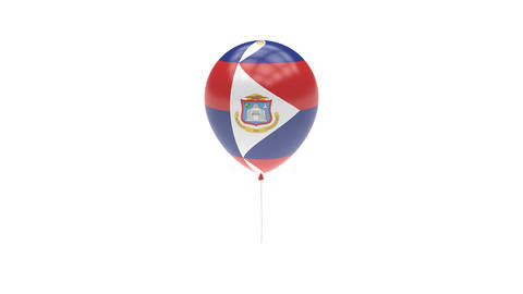Sint-Maarten Balloon Rotating Flag Animation - Alpha Channel - Transparent Animation