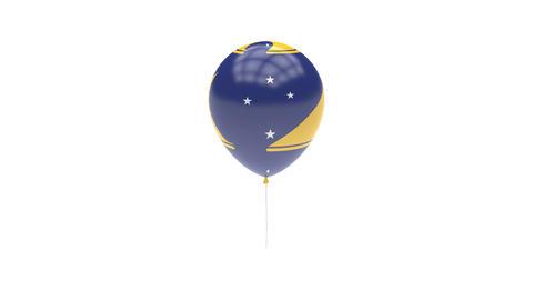 Tokelau Balloon Rotating Flag Animation - Alpha Channel - Transparent Animation