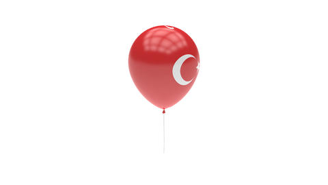 Turkey Balloon Rotating Flag Animation - Alpha Channel - Transparent Animation