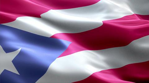 Flag Puerto Rico Animation