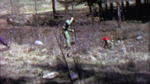 1967: Boy scout conservation work helping nature reforestation Live Action