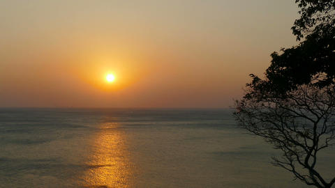 beauty landscape with sunset over sea Footage