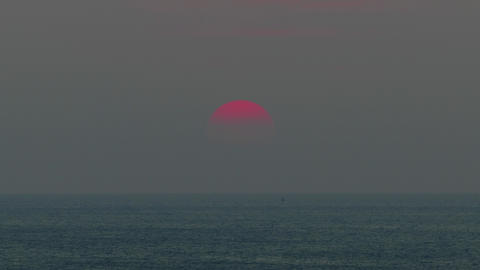 beauty landscape with sunset over sea, timelapse Footage