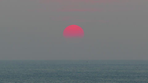 beauty landscape with sunset over sea Filmmaterial