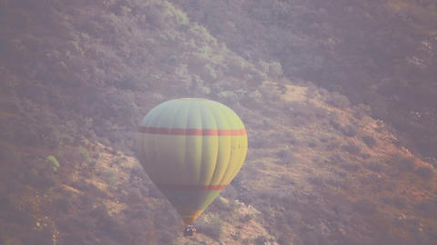 Hot air balloon fly Footage