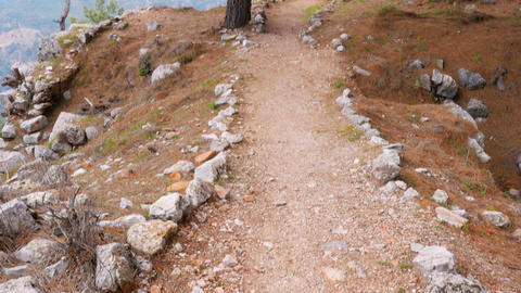 empty lycian way, lycia road, turkey. The Sunday Times has listed it as one of t Footage