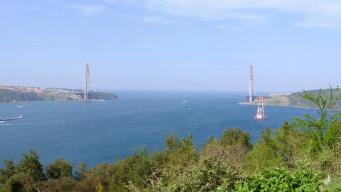 istanbul third bridge construction Footage