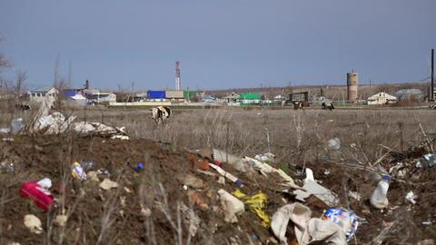 Garbage dump household waste Footage