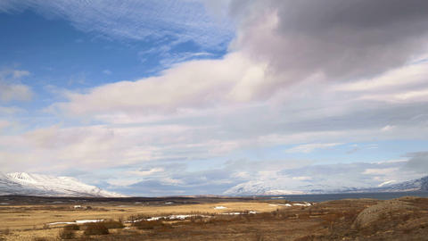 Time lapse of impressive landscape in the north of Iceland Live Action