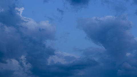 Time lapse of storm clouds passing by and move to bright blue sky Footage