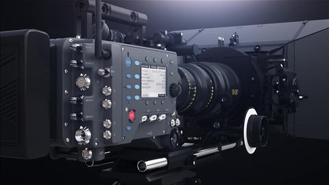 Professional camera with rig Animation