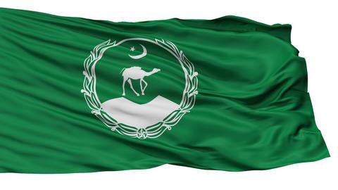 Isolated Balochistan city flag, Pakistan Animation