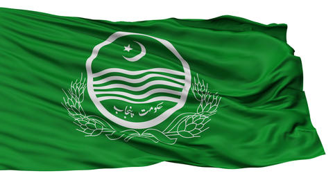 Isolated Punjab city flag, Pakistan Animation
